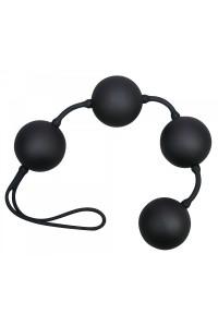 Анальные четырехрядные шарики со смещенным центром тяжести Velvet Black Balls