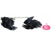 Элегантные наручники из черных