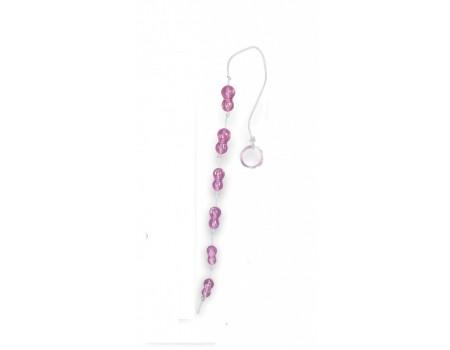 Розовая анальная цепочка Peanuts on a String