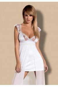 Белоснежная комбинация с прозрачной длинной юбкой Feelia Gown SM