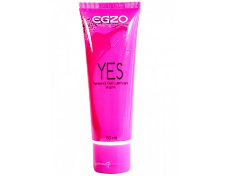 Согревающий лубрикант на водной основе Egzo Yes (50 мл)