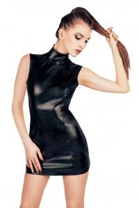 Кожаное платье с открытой спиной OneSize