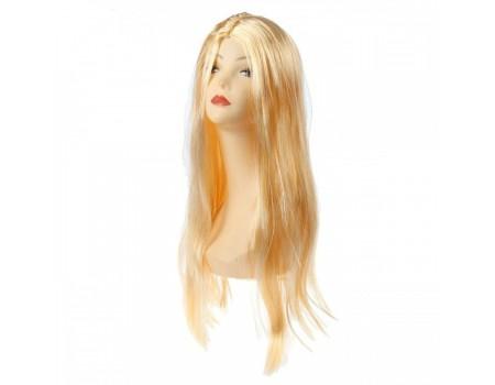 Парик с длинными светлыми прямыми волосами