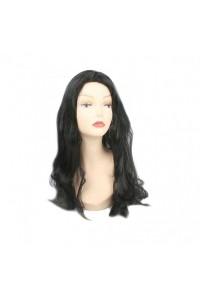 Парик с черными длинными волосами