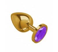 Большая золотая пробочка с фиолетовым