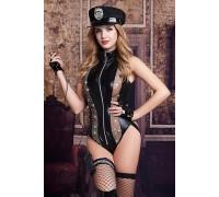 Костюм полицейской CANDY GIRL RAVEN (6 предметов)