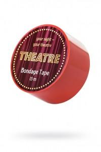 Красный бондадный скотч для тела Bondage Tape (15 м)