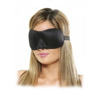 Черная маска на глаза с выемкой