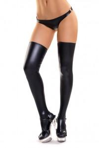 Черные эластичные чулочки Glossy XL