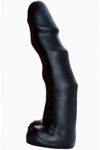 Гигантский черный фаллос с рельефной поверхностью