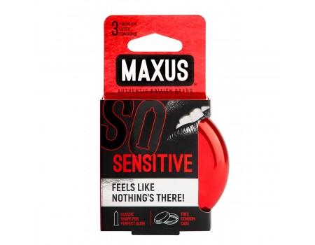 Ультратонкие презервативы в железном кейсе MAXUS Sensitive (3 шт.)