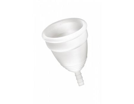 Менструальная силиконовая чаша L Coupe menstruelle blanche taille L