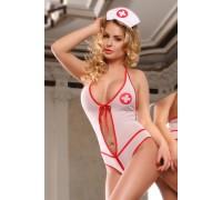 Боди медсестры с бантиком на груди