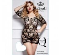 Платье с узорным плетением и рукавом 3/4 Queen Size