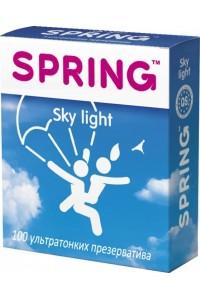 Ультратонкие презервативы SPRING Sky Light с ароматом ванили