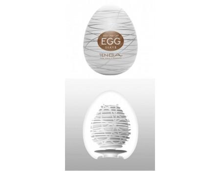 Супер эластичный мастурбатор в виде яйца Silky II