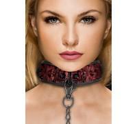 Широкий ошейник с поводком Luxury Collar with Leash