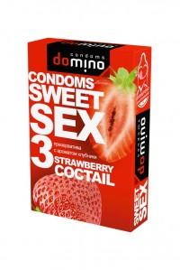 Гладкие презервативы Luxe DOMINO SWEETSEX со вкусом клубники