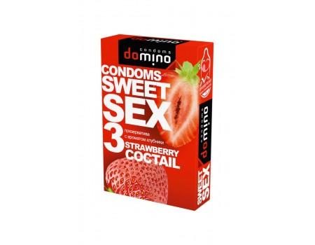 Гладкие презервативы Luxe DOMINO SWEETSEX со вкусом клубники (3 шт)