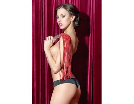 Красная плеть из натуральной кожи со съемной цепочкой TOYFA Theatre