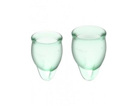 Набор менструальных чаш с хвостиком-петелькой Feel Сonfident Menstrual Cup Light Green