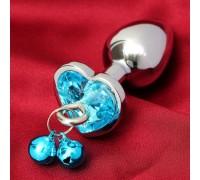 Анальная втулка с голубым кристаллом