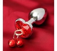 Анальная втулка с красным кристаллом