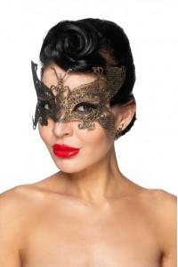 Золотистая карнавальная маска Турайс