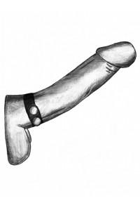 Ремень-утяжка на пенис с регулировкой диаметра и металлическими кнопками