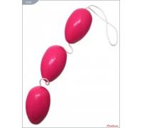 Вагинальные шарики тройные розовые