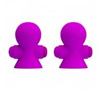 Вакуумные перезаряжаемые вибро-присоски для груди Nipple Sucker (12 режимов)