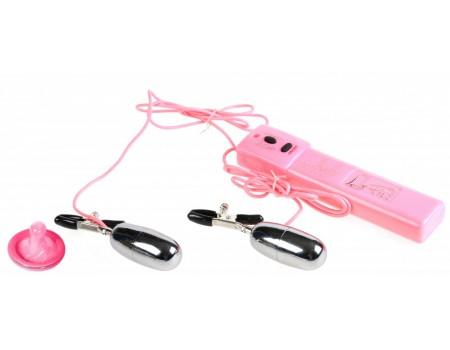 Вибро-зажимы на соски Turbo Nippleclamps (7 режимов)
