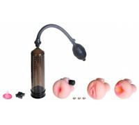 Вибропомпа с тремя реалистичными насадками Pump Worx