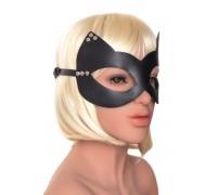 Кожаная маска «Кошка» с заклепками