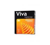 Ребристые презервативы VIVA (3 шт)