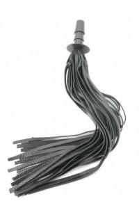 Кожаная плеть-хвост со штырьком для насадок 40см