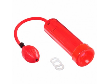 Красная вакуумная помпа с эрекционным кольцом Discovery RACER