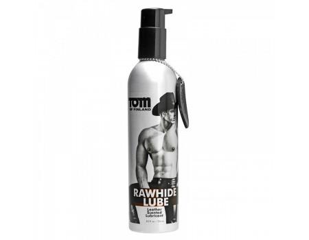 tomfin-4271 | Лубрикант на водной основе Tom of Finland RAWHIDE Lube с ароматом натуральной кожи в металлической бутылке (236 мл)