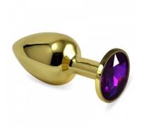 Малая золотая пробочка с фиолетовым кристаллом