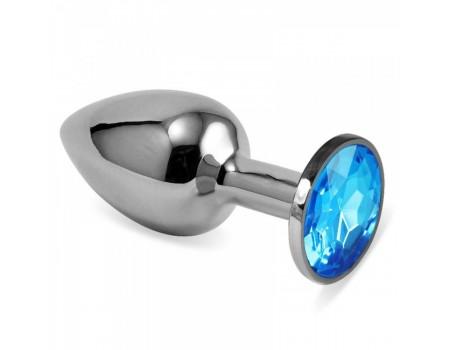 Малая серебряная пробочка с голубым кристаллом