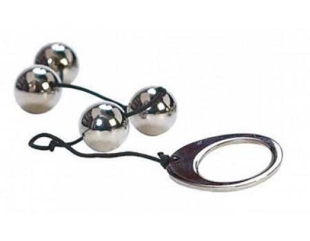 Маленькие металлические анальные шарики HEAVY METAL ANAL BEADS