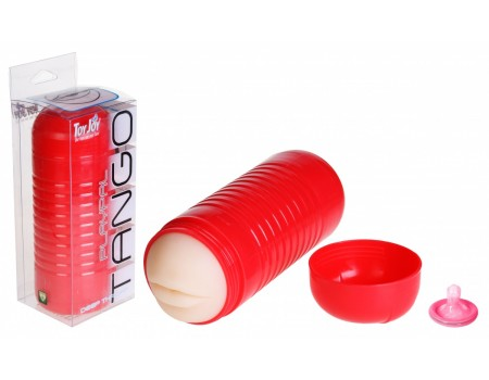 Мастурбатор-рот в пластиковом футляре PLAYPAL TANGO