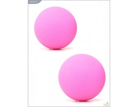 Металлические шарики с гладким розовым силиконовым покрытием MAIA SILICON BALL SB1