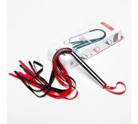 Мини-плеть с лентами (чёрно-красная)
