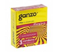 Презервативы GANZO LONG LOVE No3 с анестетиком