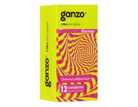 Презервативы GANZO NEW EXTASE No12 Точечно-ребристые