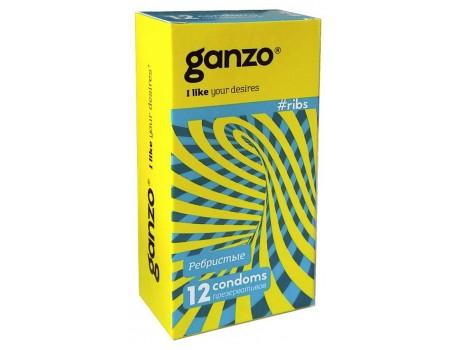 Презервативы GANZO RIBS No12 Ребристые