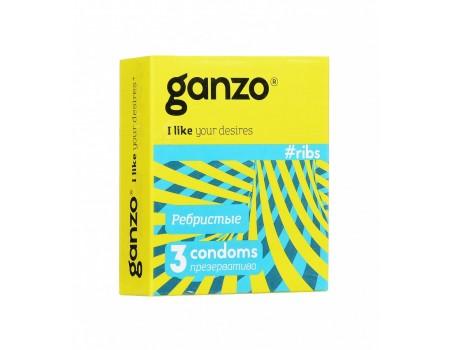 Презервативы GANZO RIBS No3 Ребристые