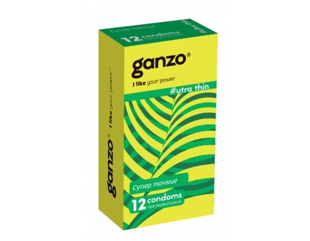 Презервативы GANZO Ultra thin No12 Супер тонкие