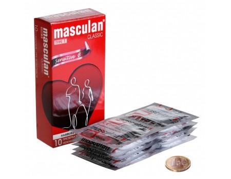 """Презервативы Masculan тип 1 """"НЕЖНЫЕ"""" (10 шт.)"""